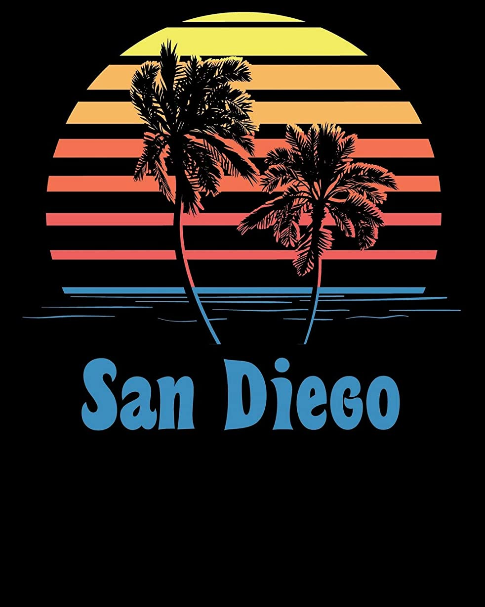 ハドル暫定用心深いSan Diego: Beach Vacation Travel Planner and Journal (8 x 10)