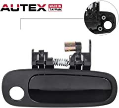 AUTEX Door Handle Outside Outer Exterior Front Right Passenger Side Compatible with Toyota Corolla,Chevrolet Prizm 1998 1999 2000 2001 2002 77567, 80424, 69210-02030