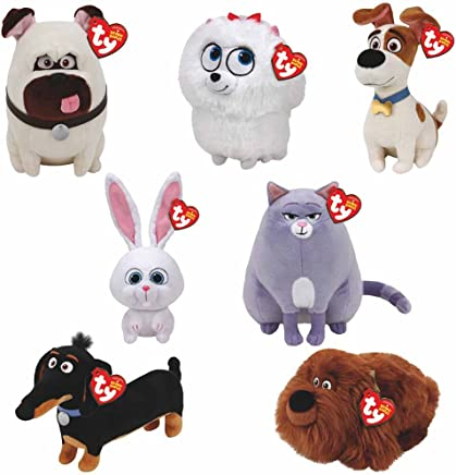 ad3e035132e TY Beanie Babies Plush - Secret Life of Pets Movie Soft Toys (Complete set  of