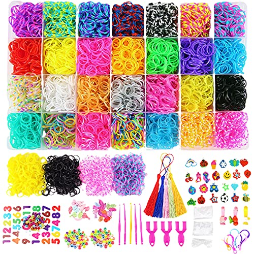 YYAOO Juego de bandas de goma de telar DIY Rainbow Rubber Bands Twist Band Set colorido Rainbow Rubber Loom Kit para niños Crafting Friendship Bracelet Weaving(Style1)