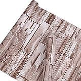 Autocollant imitation pierre Brique Motif Contact papier Vinyle décoratifs Peel et bâton Brique papier peint pour décoration murale 45 x 1000 cm