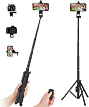 "Selfie Stick Tripod,54"" Extendable Tripod Stand with Cell Phone Mount Holder & Rechargeable Wireless Remote,Lightweight, C..."