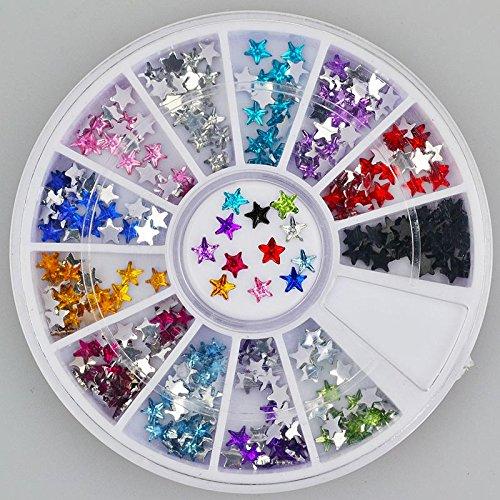 Baker's 300pc Rhinestone 3D Nail Art - Multi Colour Stars