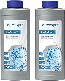 Wessper Détartrant Liquide Machine à Café 2 x 500ml - Compatible avec Delonghi Bosch Senseo Nespresso Dolce Gusto