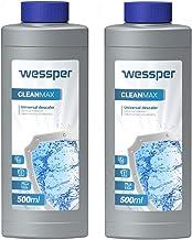 Wessper Ontkalker voor koffie maschine, waterkoker en ijzer 2 x 500ml - Kalkschaalverwijderaar en reiniger Compatibel met ...