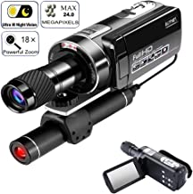 SSeir Night Vision Camcorder Digital Video Camera, 1080P 18X Digital Zoom Monocular Telescope Distance Up to 100M/330Ft, for Hunting Observe, Outdoor Trip