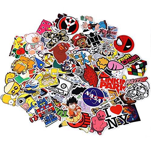 Neuleben Aufkleber Pack [100-pcs] Graffiti Sticker Decals Vinyls für Laptop, Kinder, Autos, Motorrad, Fahrrad, Skateboard Gepäck, Bumper Sticker Hippie Aufkleber Bomb wasserdicht (Serie-6)