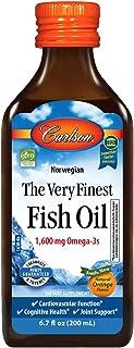 Sponsored Ad - Carlson - The Very Finest Fish Oil, 1600 mg Omega-3s, Liquid Fish Oil Supplement, Norwegian Fish Oil, Wild-...