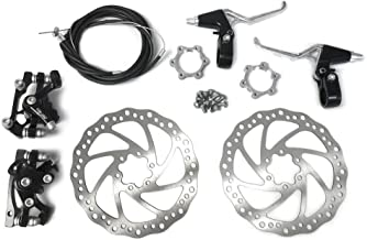 BlueSunshine Front and Back Disk Brake Kit - 160mm For 80cc Gas Motorized Bicycle