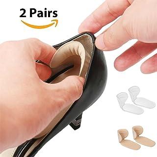 2 Pares T-forma Plantillas Silicona, Gel Almohadillas de Talón, Talonera para Protectores de Talón para Zapatos de Tacón Alto y Zapatos Planos