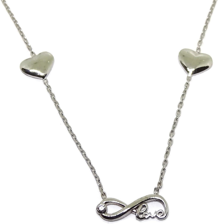 Popular brand in the world Infinity Heart Genuine Pendant Collar 18K White Neckl Gold Love Charms