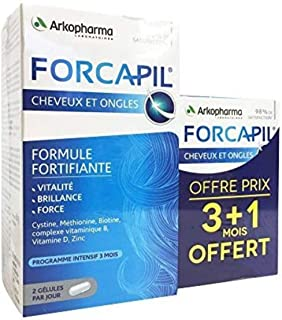 Forcapil - Fortifying Formula for Hair and Nails 180 capsules + 60 capsules for free