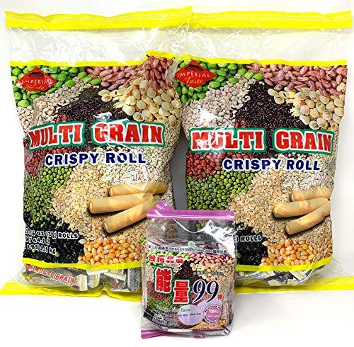 Imperial Taste Multi Grain Crispy Rolls Bundle 2 Pack of X-Large Bag 2.76lb - 44.1 oz Bag - 125-131 Units 0.35 oz Each Roll
