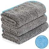 Microfiber Cleaning Cloths with Microfiber Applicator Pad, Premium Microfiber Towels for Car Detailing