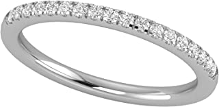 Sponsored Ad - 14K White Gold 1/4 Carat (H-I Color, SI2-I1 Clarity) Natural Diamond Wedding/Anniversary/Stackable Band