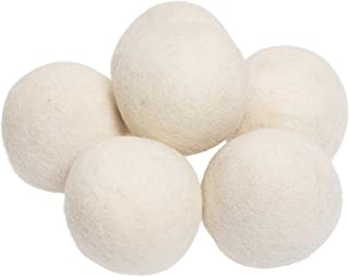 De Kulture™ Hand Made Pure New Zealand Wool Dryer Balls (3x3 DH/Set of 6) Laundry, Fabric Softener, Reusable, Shorten Drying Time, Reduces Wrinkles(White)
