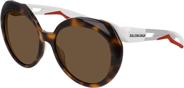 Occhiali da sole balenciaga bb0024s havana white/brown donna