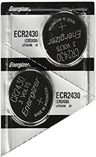 Twin Pack Energizer CR2430 3v Lithium button coin cell battery by Energizer