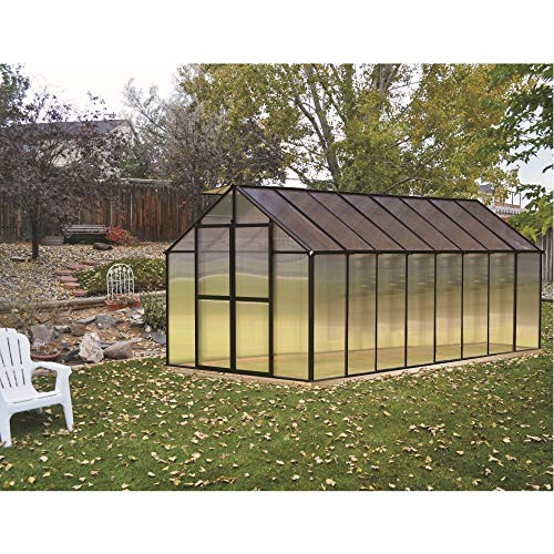 Riverstone Industries Monticello (8x16) Black Greenhouse
