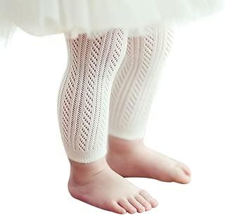 Qiyuxow Infant Toddler Girls Solid Knit Footless Leggings/Tights Socks