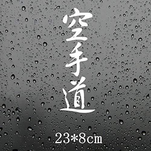 wjyoz Autoaufkleber Karate Kanji-Zeichen Auto Aufkleber Funny car Aufkleber Styling 23x8cm (Color : White)