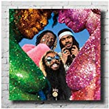 DrCor Flatbush Zombies Vacation in Hell Music Album Cover Poster e Stampe Canvas Painting Wall Artist for Home Decoration Gift -60x60 cm No Frame