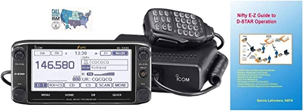 Bundle - 3 Items - Includes Icom ID-5100A Deluxe VHF/UHF D-Star Mobile Transceiver, Nifty! Accessories EZ Guide to D-Star ...