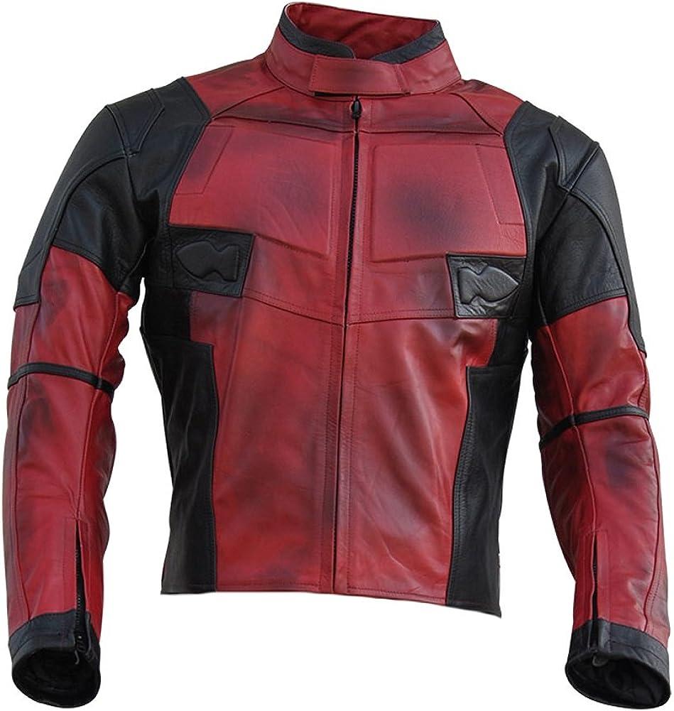 Classyak Men's DP Real Leather Motorcycle Jacket