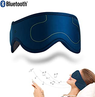 ACOTOP Bluetooth Sleep Eye Mask with Wireless Headphones, Best for Back Sleepers, Stereo Speakers Noise Cancelling for Sleep, Air Travel, Meditation and Relaxation (Navy Blue)