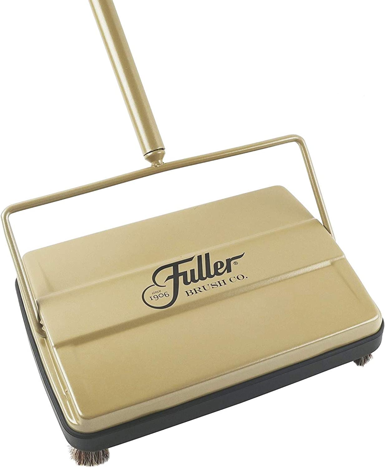Fuller Brush Electrostatic Carpet and Floor Sweeper -9  Cleaning Path-Rich gold