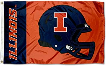 College Flags and Banners Co. Illinois Fighting Illini Football Helmet Flag