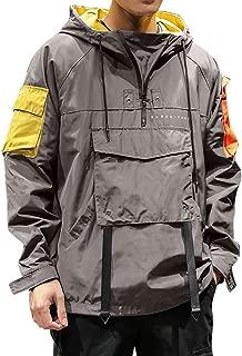 Mens Plus Size Casual Waterproof Quick-Drying Outdoor Solid Coat Long Sleeve Full Zipper Coat Blouse (L-6XL)