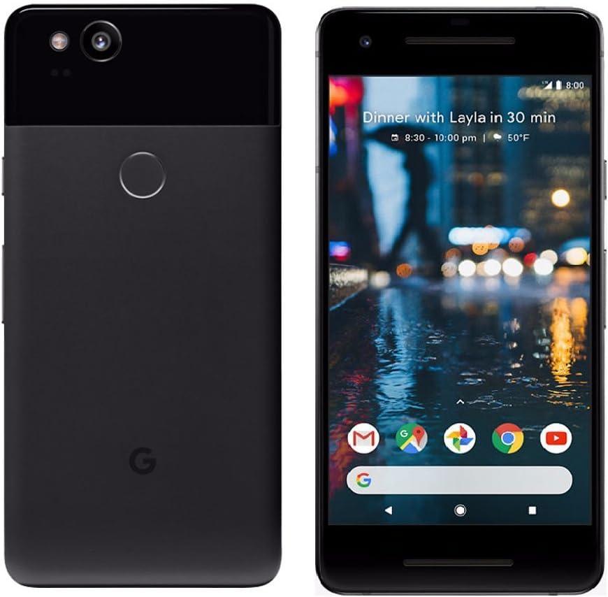 Google Pixel 2 Unlocked, 128GB -Black (Renewed)