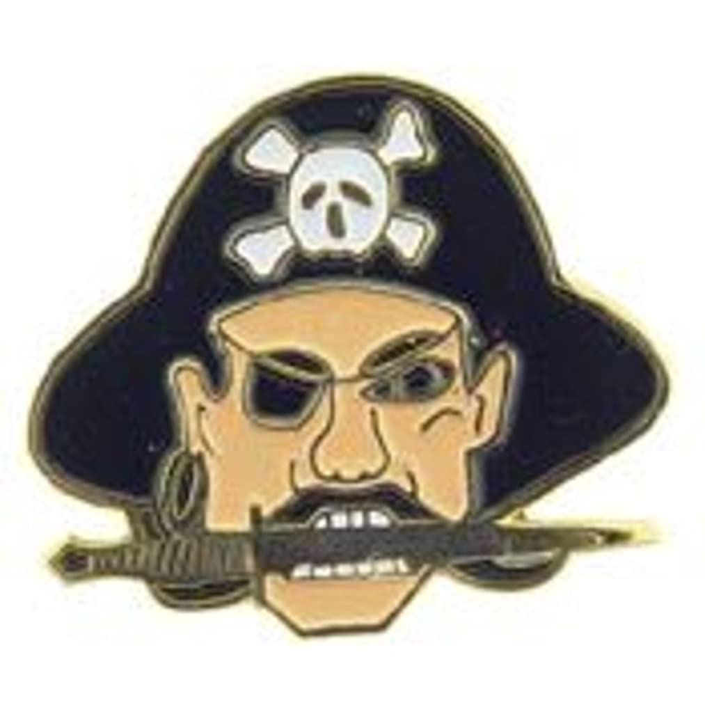 EagleEmblems P00427 Pin-Pirate,Head,Reg (1'')