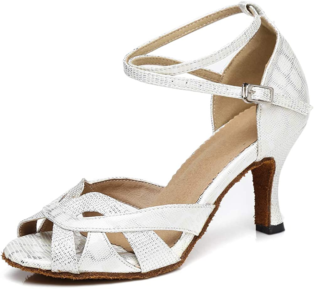 SWDZM Women's Latin Dance Shoes,Salsa Practice Party Wedding Bal