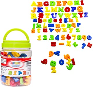 Magnétique Coloré lettres chiffres symboles enfants apprentissage Toy 80pcs