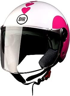 BHR 93771 Demi-Jet Love 710 Casco de Moto, Color Blanco, Talla 53/54 (XS)