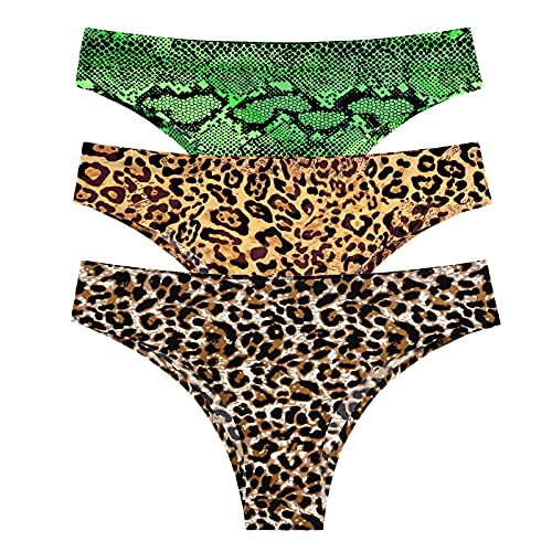 Women Comfy Underwear Women Sexy Lingerie Temptation Low-Waist Panties Thong Transparent Underwear Intimates(Multicolor,Large)