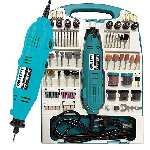LARS360 Mini-Schleifer Schleifmaschine 226 teilig inklusive Koffer Handschleifer Multischleifer Multitool Rotary Drill Grinder Schleifen Werkzeug (226 teilig)