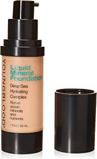 Youngblood Clean Luxury Cosmetics Liquid Mineral Foundation, Pebble   Dewy Mineral Lightweight Full Coverage Makeup for Dr...