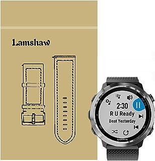 Lamshaw Garmin ForeAthlete 645 バンド, Lamshaw ミラネーゼループ マグネット式 ステンレス メッシュ 交換ベルト 対応 GARMIN(ガーミン) ForeAthlete 645 Music GPSランニングウォッチ 活動量計 (ブラック)