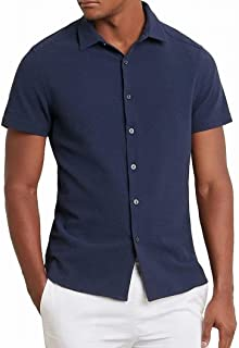 Men's Short Sleeve Seersucker Shirt