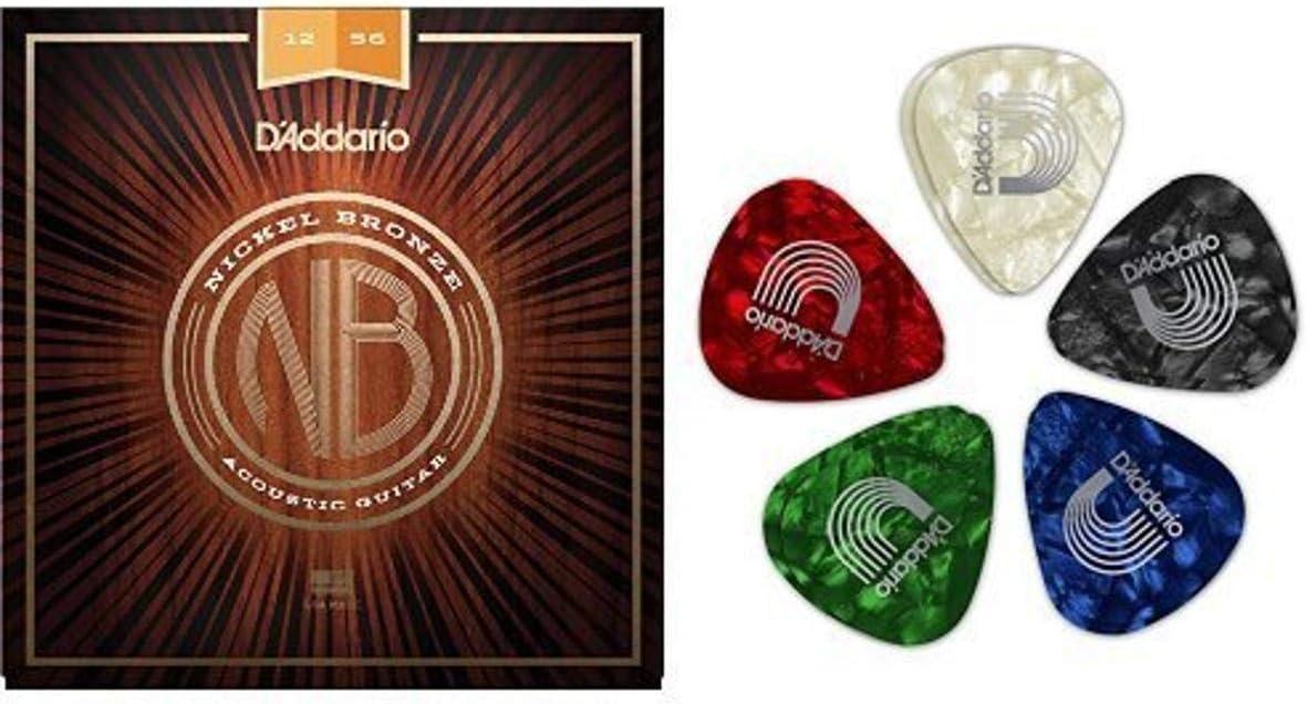 D'Addario Boston Mall Nickel Bronze Light Top Med Portland Mall Str Bottom Acoustic Guitar