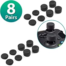 Insten [8 Pair / 16 Pcs] Thumb Grip for xBox One PS4 Controller, Silicone Analog Thumbgrips Stick Cover Compatible with PS4 xBox One S X eLite Wireless Controllers Joystick Cap Gamepad Anti-slip Black