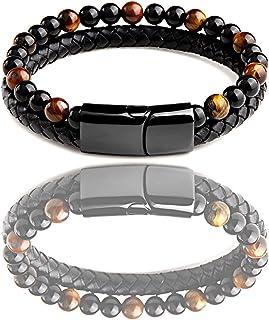 Bracelet Tressé Obsidienne Oeil céleste