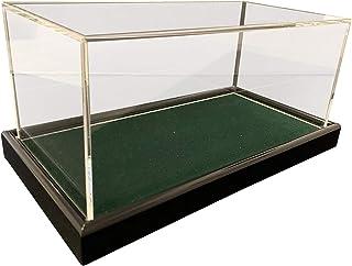 Grande Universal acrílico Vitrina 22 x 12 x 10,5 cm/Showcase/Vitrina con Terciopelo Verde Oscuro por Ejemplo para Pelota de Tenis, béisbol, 3 Pelota de Golf, Figuras, Modelos automóvil