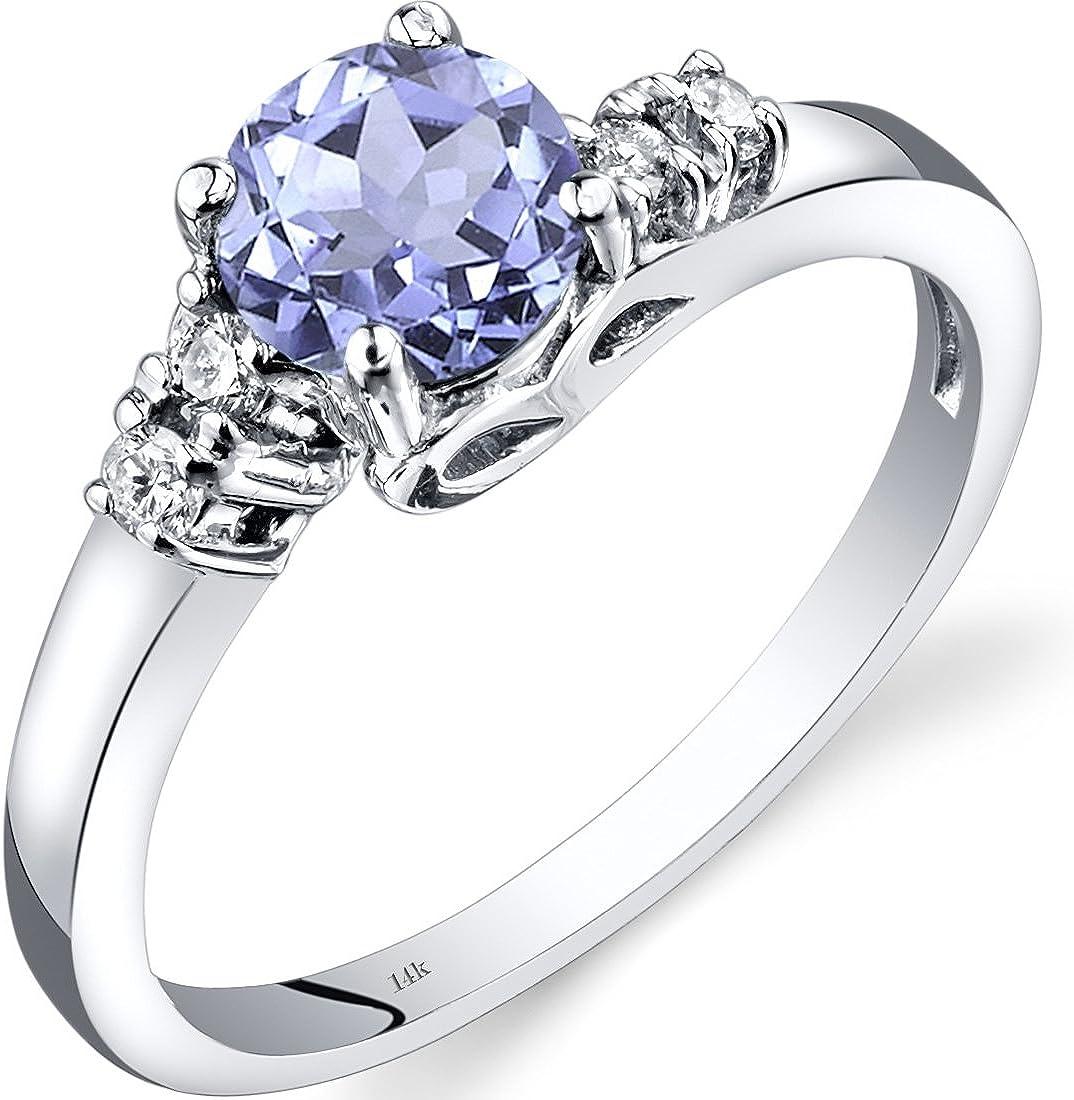 14K White Gold Tanzanite Diamond Solstice Ring