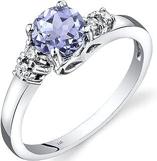 tanzanite engagement rings white gold
