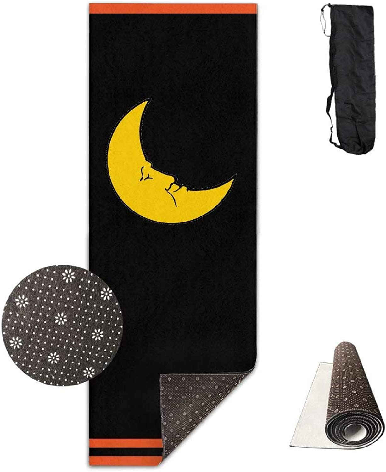 Moon Clip Art Deluxe Yoga Mat Aerobic Exercise Pilates