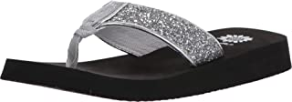 Yellow Box Women's Feliks Sandal, Silver, 9.5 M US